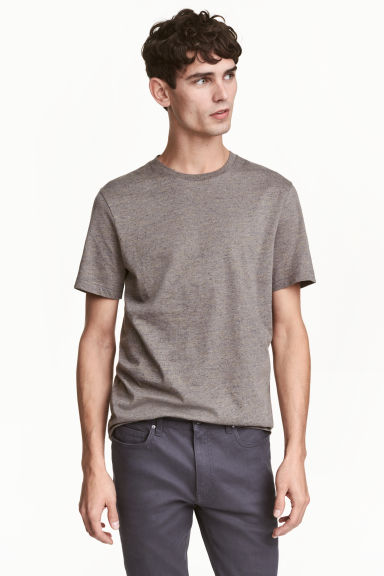 Nepped T-shirt Regular fit - Mole/Neps - Men | H&M 1