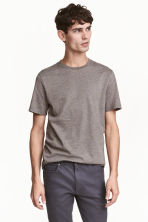 T-shirt Regular fit - Taupe/tweedé - HOMME | H&M FR 1