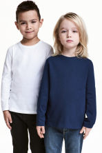 2-pack long-sleeved T-shirts - Dark blue -  | H&M 1