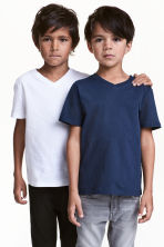2-pack T-shirts - Dark blue - Kids | H&M 1