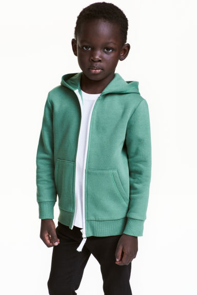 Hooded jacket - Green -  | H&M 1