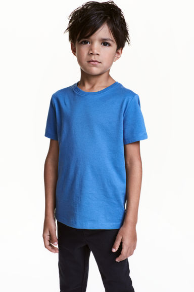 Cotton T-shirt - Bright blue -  | H&M 1