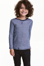 Long-sleeved T-shirt - Dark blue/Narrow striped - Kids | H&M 1