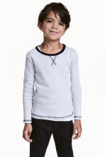 Long-sleeved T-shirt - Grey/Narrow striped - Kids | H&M 1