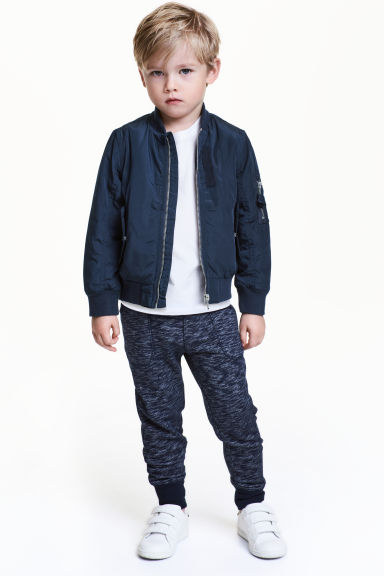 Sweatpants - Dark blue marl - Kids | H&M CN 1