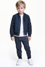 Sweatpants - Dark blue marl - Kids | H&M 1