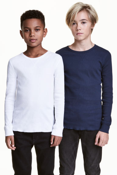 T-shirt a costine, 2 pz - Bianco -  | H&M IT 1