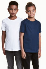 Set van 2 T-shirts - Donkerblauw -  | H&M BE 2