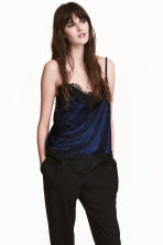 Top in velluto riccio - Blu scuro - DONNA | H&M IT 1