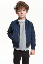 Padded bomber jacket - Dark blue - Kids | H&M CN 1