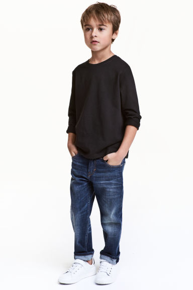 Relaxed Jeans - Dark denim blue - Kids | H&M 1