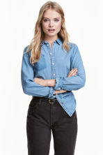Denim shirt - Denim blue - Ladies | H&M CN 1