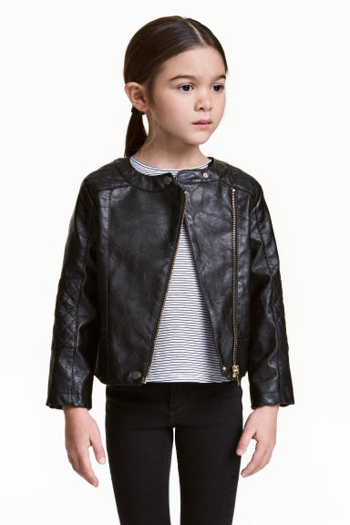 Biker jacket - Black -  | H&M CN