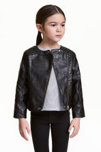 Biker jacket - Black - Kids | H&M CN 1