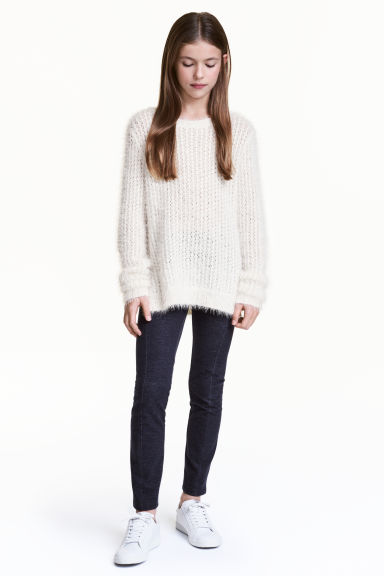 Leggings in jersey pesante - Blu scuro - BAMBINO | H&M IT 1