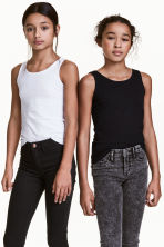 2-pack tops - Black -  | H&M CN 1