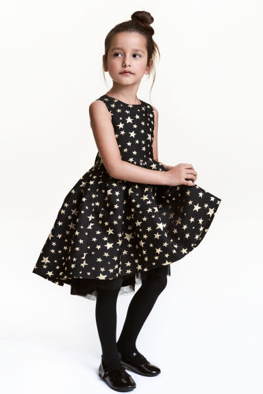 Shimmering dress - Black/Stars - Kids | H&M 1