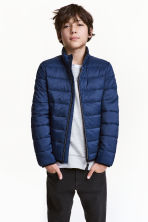 Lightly padded jacket - Dark blue -  | H&M 1