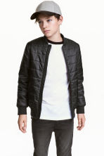 Padded bomber jacket - Black - Kids | H&M 1