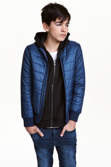 Padded bomber jacket - Dark blue - Kids | H&M 1