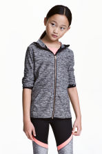 Sports jacket with a hood - Dark grey marl - Kids | H&M CN 1