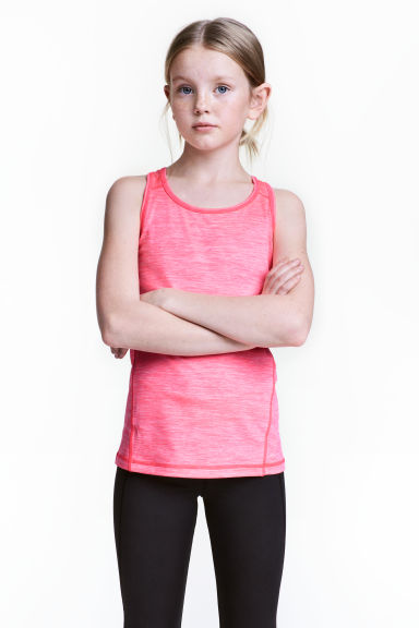 Sports vest top - Neon pink marl - Kids | H&M CN 1