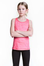 Sports vest top - Neon pink marl -  | H&M 1
