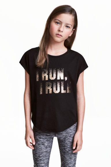 Sports top - Black -  | H&M CN 1