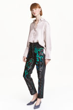 Jeans con paillettes - Grigio scuro/verde - DONNA | H&M IT 1