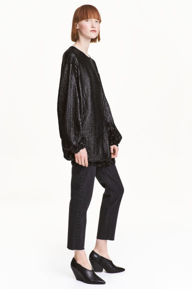 Sequined dress - Black -  | H&M
