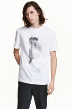 T-shirt with a motif - White/Silver - Men | H&M CN 1