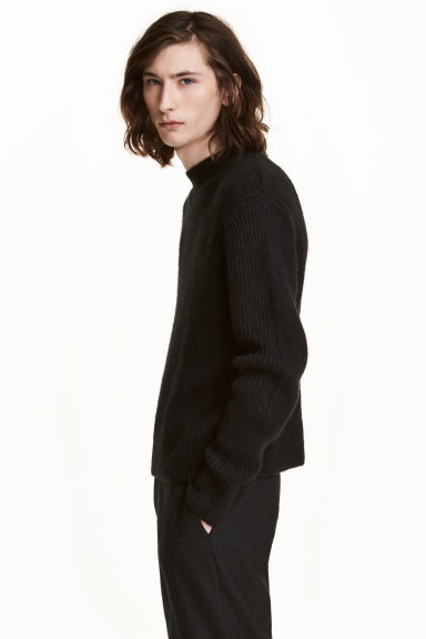 Mohair-blend jumper - Black - Men | H&M 1