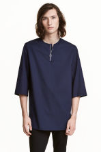 T-shirt lunga con cerniera - Blu scuro - UOMO | H&M IT 1