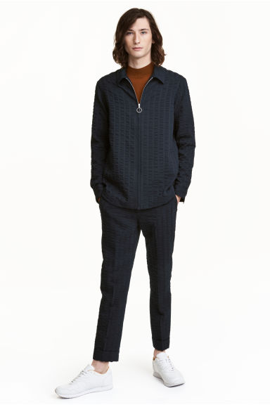 Striped suit trousers - Dark blue - Men | H&M CA 1
