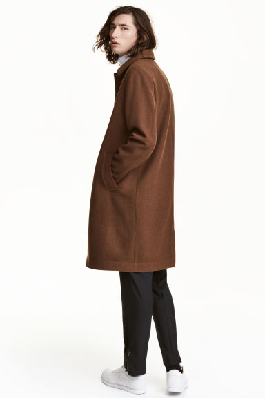 Cappotto in misto lana - Cammello scuro - UOMO | H&M IT 1
