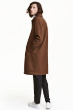 Wool-blend coat - Dark camel - Men | H&M CN 1