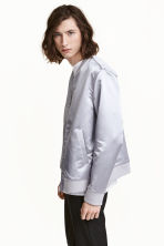 Satin bomber jacket - Light grey - Men | H&M 1