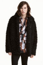 Faux fur jacket - Black - Men | H&M CN 1