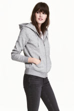 Hooded jacket - Grey marl - Ladies | H&M 1