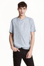 Round-neck T-shirt Regular fit - Light blue marl - Men | H&M 1