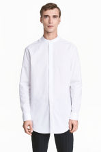 Grandad collar shirt - White - Men | H&M CN 1