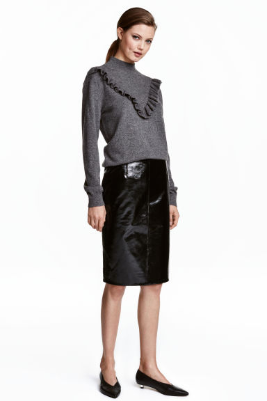 Patent leather skirt - Black - Ladies | H&M CA