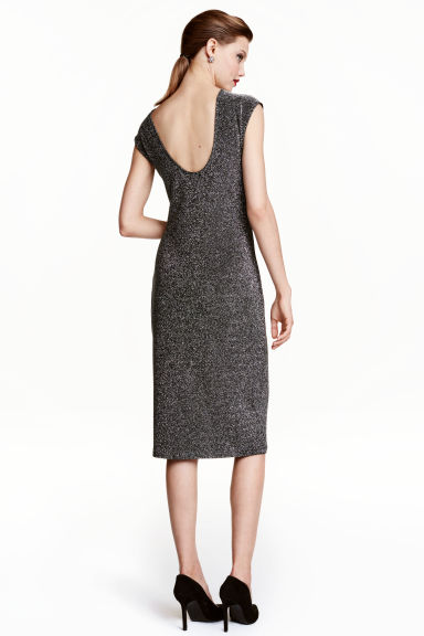Abito glitter - Nero/argentato - DONNA | H&M IT 1