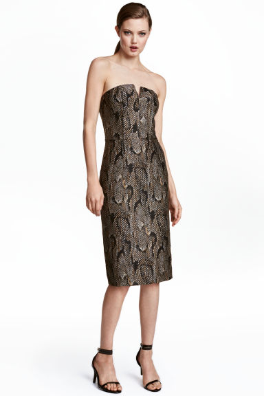 Jacquard-weave dress - Snakeskin print - Ladies | H&M CN 1