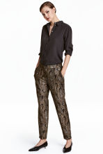 Textured suit trousers - Snakeskin print - Ladies | H&M CN 1