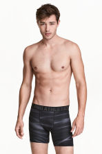Sports boxer shorts - Black/Patterned - Men | H&M 1