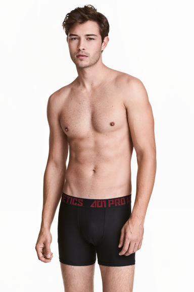 Sports boxer shorts - Black/Red - Men | H&M CN