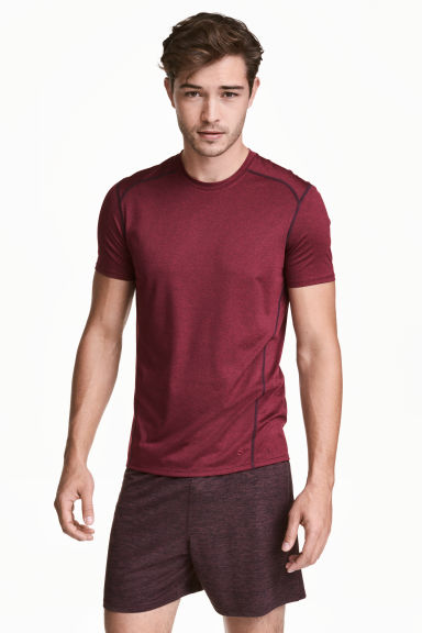 Sports top - Burgundy - Men | H&M CN
