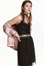Bustier in pizzo - Nero - DONNA | H&M IT 1