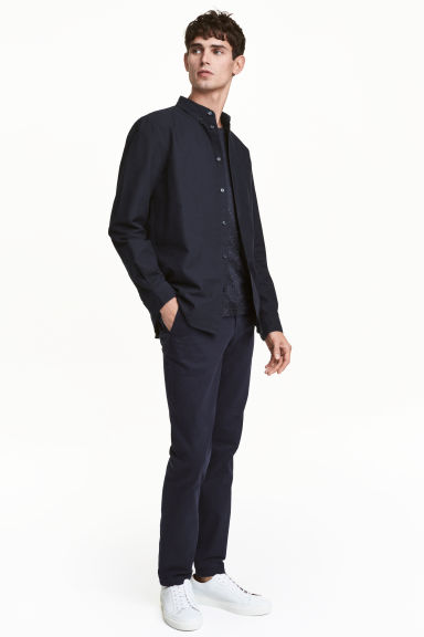 Chinos Skinny fit - Dark blue - Men | H&M CA 1
